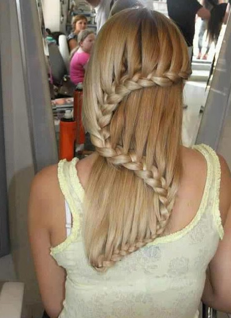 Beautiful Cascade/waterfall Braid Hairstyles Gallery Within Current Extravagant Under Braid Hairstyles (View 16 of 25)