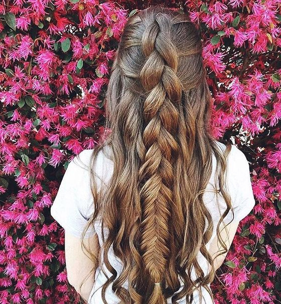 Beautiful Large Fishtail Braid – Ladystyle Intended For 2018 Oversized Fishtail Braided Hairstyles (View 15 of 25)