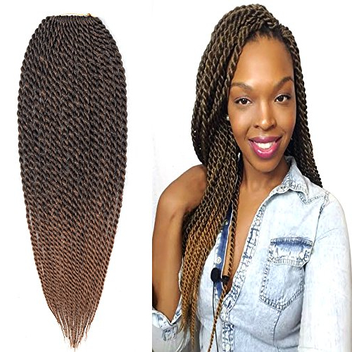 """Befunny 8Packs 14"""" Senegalese Twist Crochet Hair Ombre Braids Small Havana Mambo Twist Crochet Braiding Hair Senegalese Twists Hairstyles For Black With Regard To Current Black And Brown Senegalese Twist Hairstyles (View 22 of 25)"""