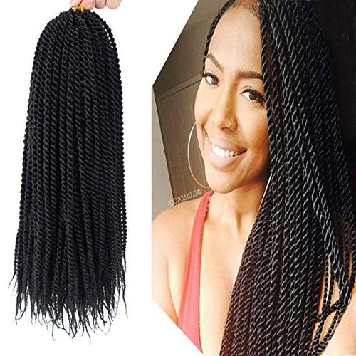 "Befunny 8Packs 18"" Senegalese Twist Crochet Hair Braids Small Havana Mambo Twist Crochet Braiding Hair Senegalese Twists Hairstyles For Black Women In Recent Black And Brown Senegalese Twist Hairstyles (View 9 of 25)"