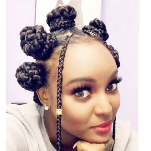 Best Bantu Knots Hair Styles For Women And Kids »   Fashion Inside Best And Newest Bantu Knots And Beads Hairstyles (View 11 of 25)