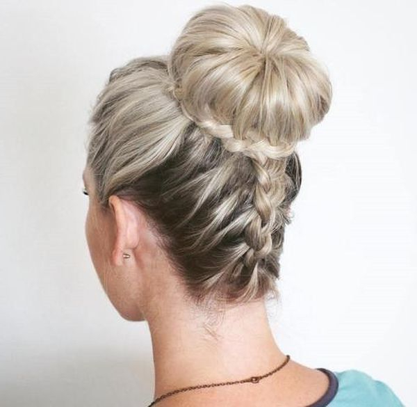 Best Braided Bun Hairstyles Ideas To Try (September 2019) In Most Current Braids And Buns Hairstyles (View 11 of 25)