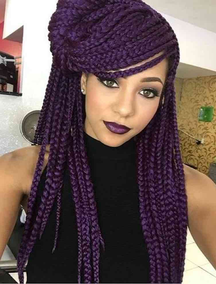 Best Hairstyles & Weave For Every Face Shape With Regard To 2018 Purple Passion Chunky Braided Hairstyles (View 25 of 25)