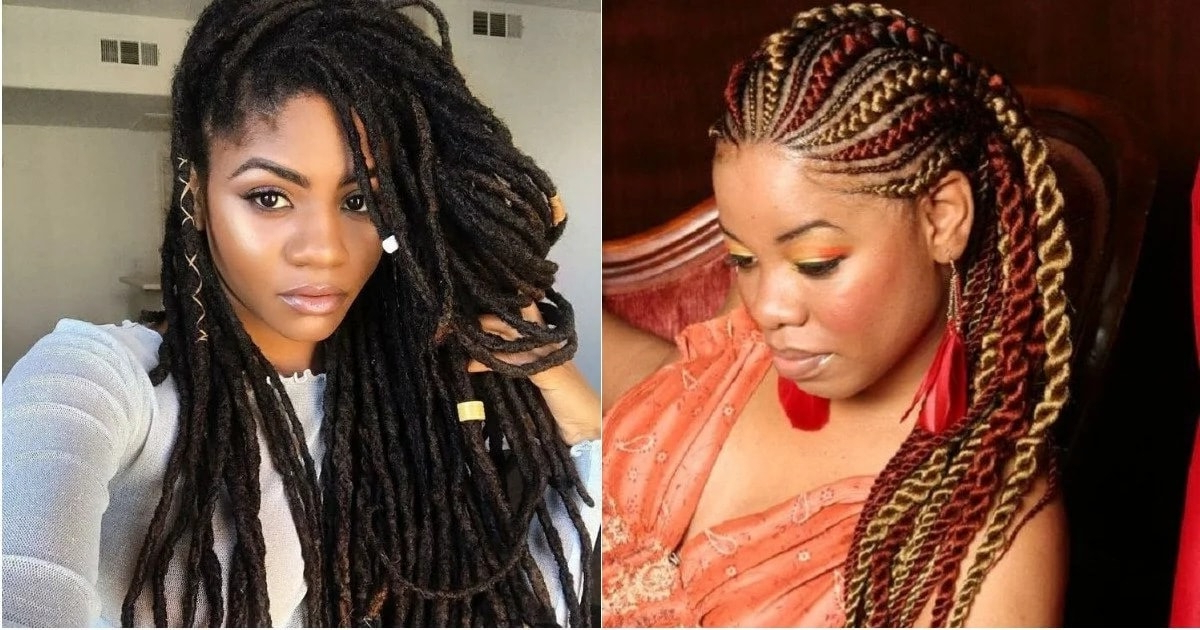 Best Nigerian Hairstyles With Attachment To Rock In 2018 Within 2018 Ultra Modern U Shaped Under Braid Hairstyles (View 11 of 25)
