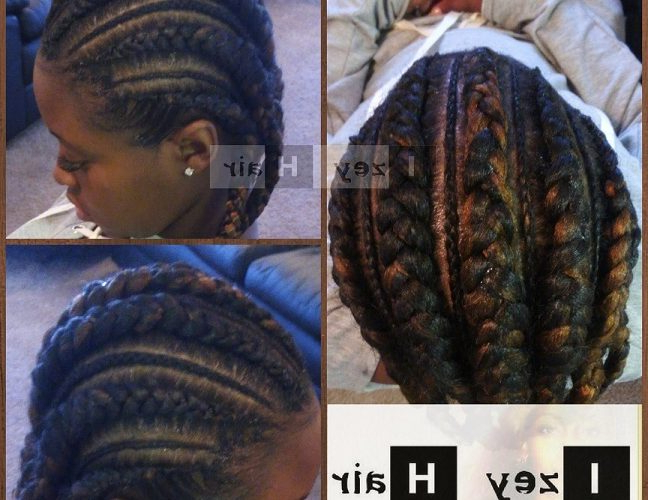 Big And Small Feed In Cornrows – Feed In Braids – No Knot Intended For Best And Newest Long And Big Cornrows Under Braid Hairstyles (View 19 of 25)