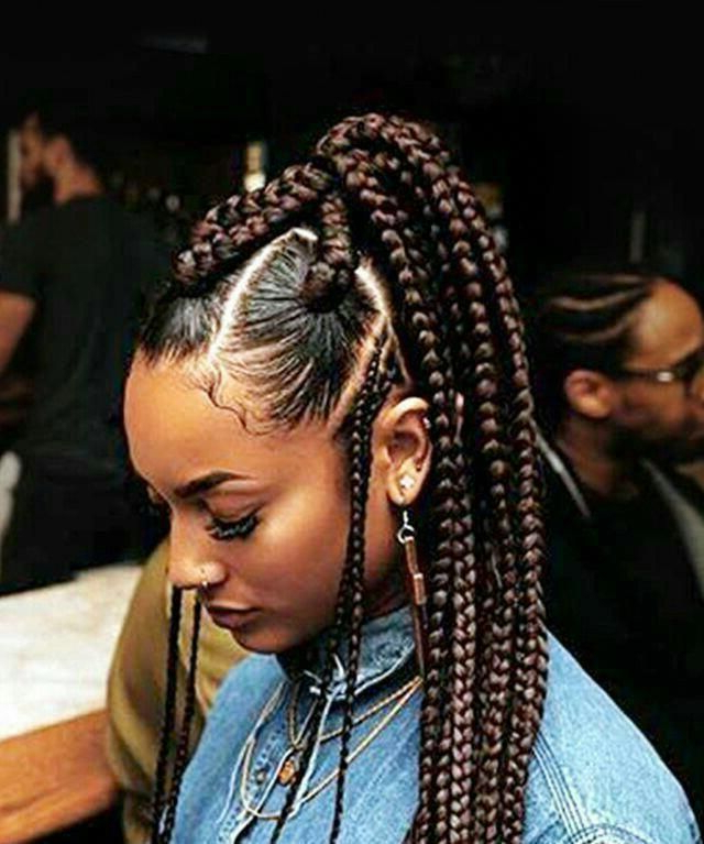 Black Women Haircuts 2016 | Micro Braids Hairstyles With Current Micro Twist Ponytail Hairstyles (View 10 of 25)