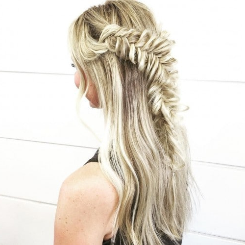 Blohaute Fishtail Wrap Around Braid Hairstyle Stars With Regard To Most Up To Date Wrapping Fishtail Braided Hairstyles (View 12 of 25)