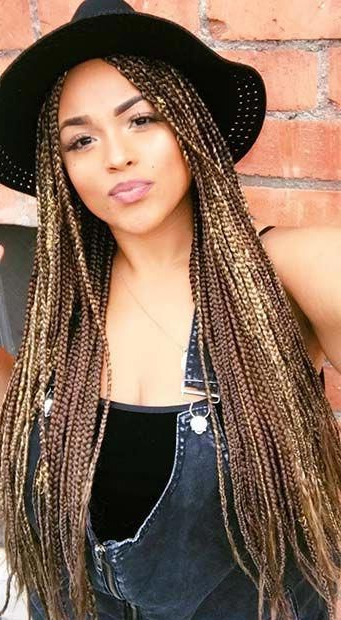 Blonde And Light Brown Box Braids #braidedhairstyles In Best And Newest Light Brown Braid Hairstyles (View 10 of 25)