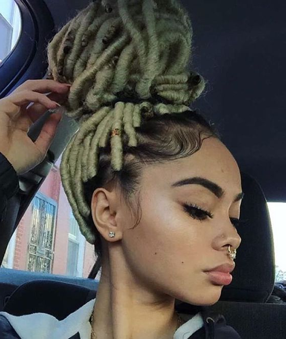 Blonde Faux Locs | Protect Your Crown | Natural Hair Styles For Recent Blonde Faux Locs Hairstyles With Braided Crown (View 5 of 25)