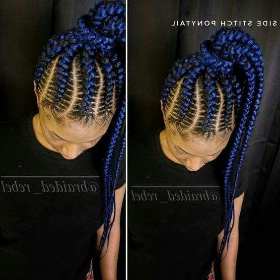 Blue Braids | Hairstyles In 2019 | Braids, Braided Inside Most Current Blue Sunset Skinny Braided Hairstyles (View 4 of 25)