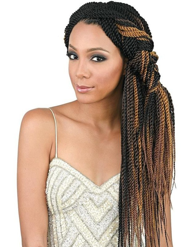 Bobbi Boss African Roots Braid Collection Crochet Braid Senegal Twist For Best And Newest Long Twists Invisible Braids With Highlights (View 13 of 25)