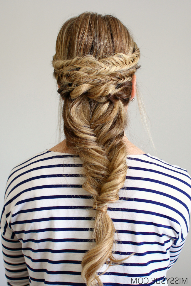 Bohemian Fishtail French Braid Intended For Most Up To Date Rope And Fishtail Braid Hairstyles (View 2 of 25)