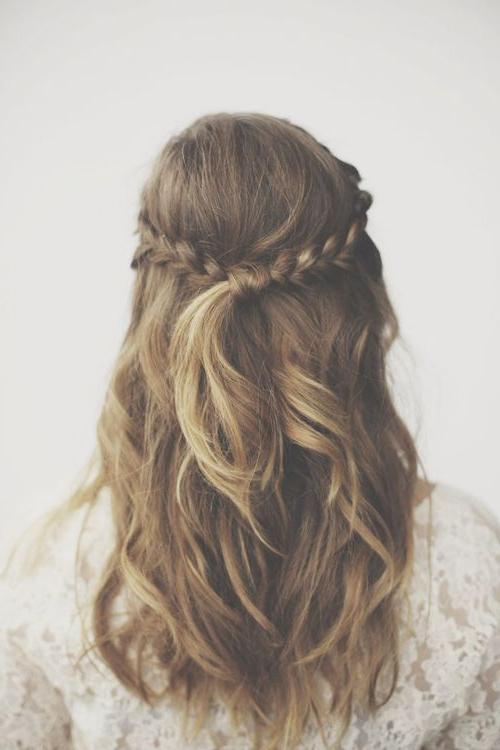 Bohemian Wedding – Half Up Braid #2047841 – Weddbook With Most Recent Boho Half Braid Hairstyles (View 9 of 25)