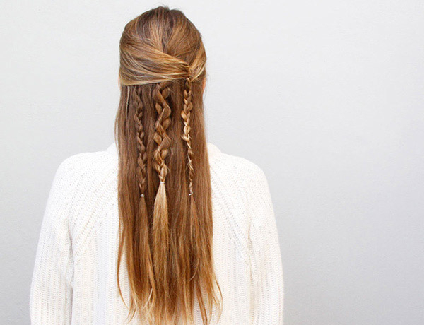 Boho Braid: How To Create An Effortlessly Chic Half Updo – More For Recent Half Up Half Down Boho Braided Hairstyles (View 14 of 25)