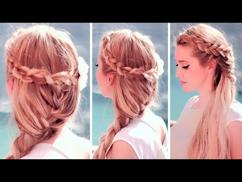 Boho Chic Hairstyles: Dutch Crown Braid With A French In Recent Mermaid Crown Braid Hairstyles (View 13 of 25)
