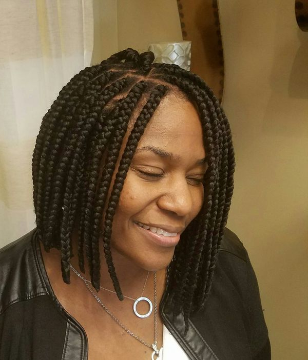Box Braids Hairstyles, Hairstyles With Box Braids In 2018 Black Shoulder Length Braids With Accents (View 9 of 25)