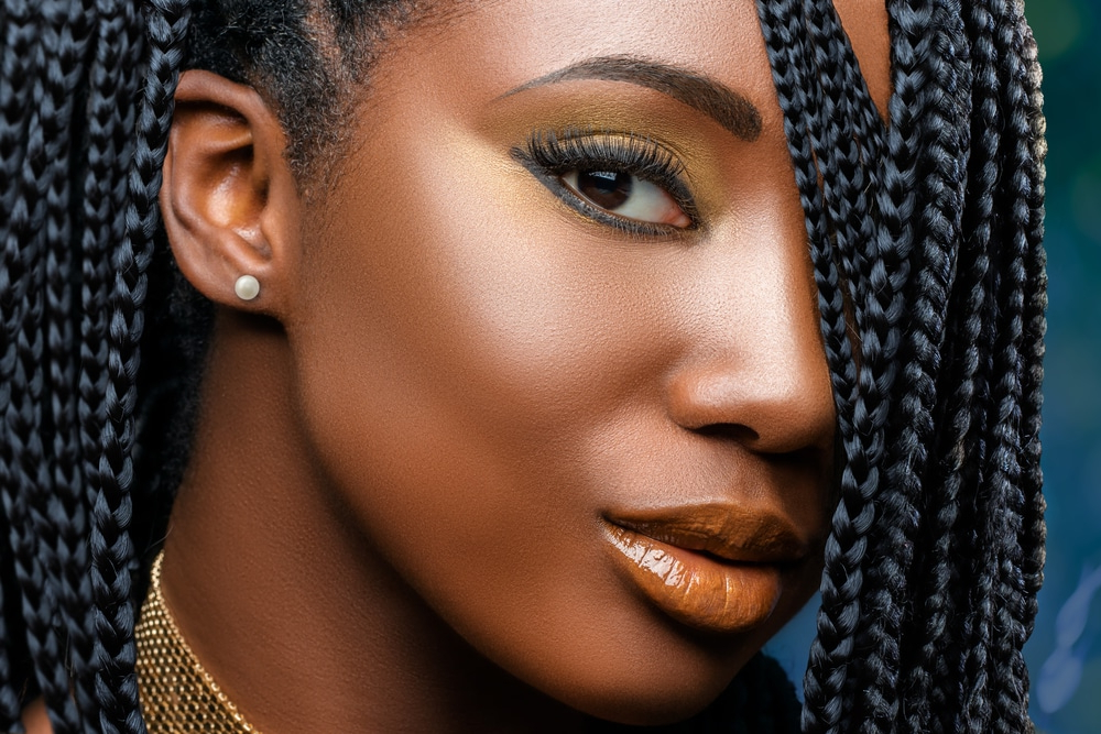 Box Braids: The Complete Styling Guide For Beginners (Updated!) Pertaining To Most Up To Date Loose Braided Hairstyles With Turban (View 18 of 25)