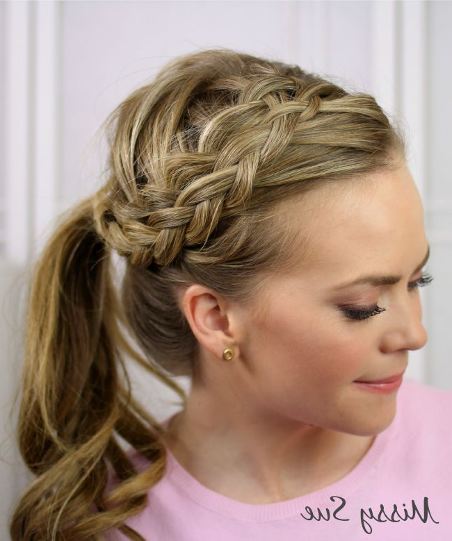Braid 19 Double Woven Headband Braid | Hairstyles: Braids Intended For Recent Double Headband Braided Hairstyles With Flowers (View 5 of 25)