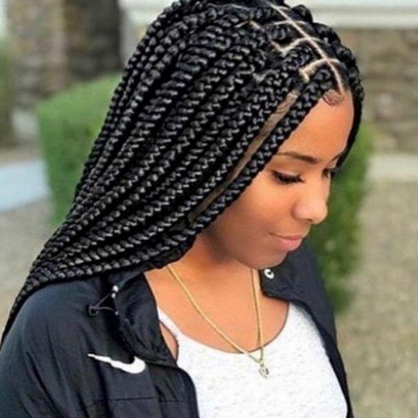Braid Hairstyles 2018 – 40 Ghana Braid, Box Braid, Goddess Pertaining To Current Braided Braids Hairstyles (View 3 of 25)