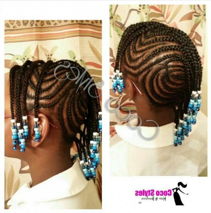 Braid Hairstyles For Kids With Beads Braided Mohawk With Regard To Latest Mohawk Braided Hairstyles With Beads (View 25 of 25)