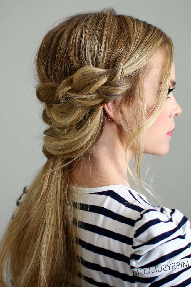 Braid Wrapped Criss Cross Ponytail Regarding Most Recent Wrapped Ponytail Braid Hairstyles (View 13 of 25)