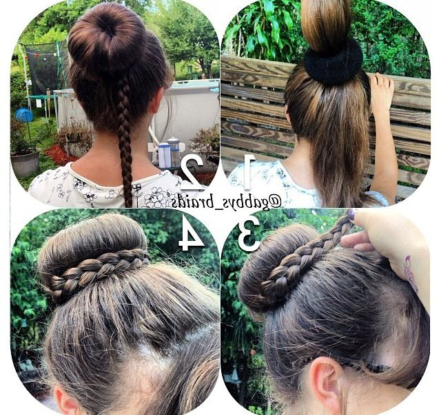 Braid Wrapped Donut Bun! So Cute! Definitely Trying This Throughout Most Popular Braided And Wrapped Hairstyles (View 23 of 25)