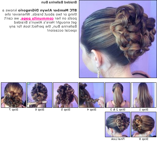 Braided Ballerina Bun: How To Do This Updo At Home Inside Most Current Braided Ballerina Bun Hairstyles (View 6 of 25)