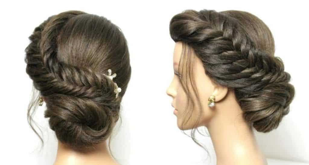Braided Bun Hairstyle – Simple Craft Ideas Regarding Best And Newest Braids And Buns Hairstyles (View 19 of 25)