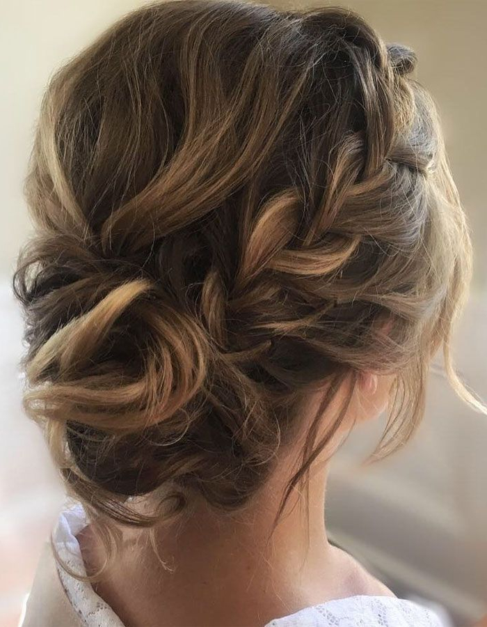 Featured Photo of Brown Woven Updo Braid Hairstyles