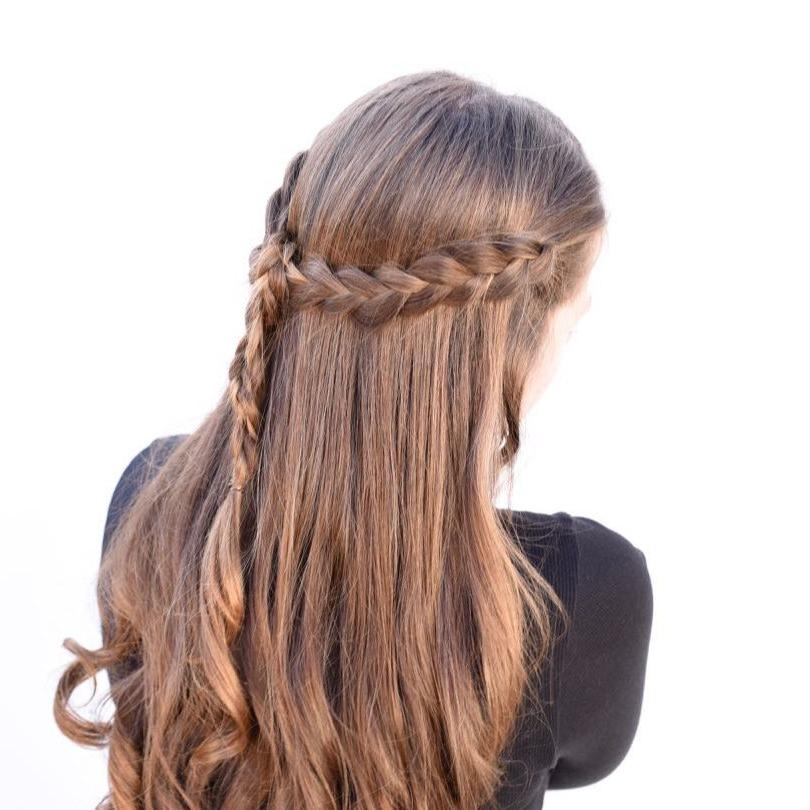 Braided Half Up Half Down Tutorial {Easy + Looks Great} With Newest Half Up, Half Down Braid Hairstyles (View 18 of 25)