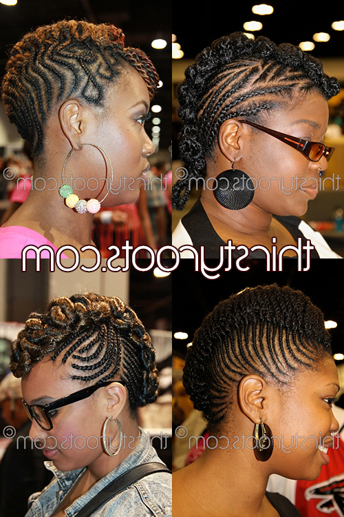 Braided Mohawk Hairstyles For Black Girls With Regard To Newest Black Twisted Mohawk Braid Hairstyles (View 7 of 25)