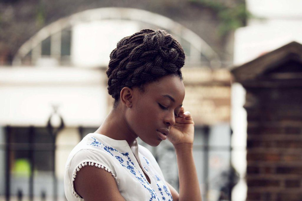 Braided Updo: 12 Trendy Hairstyles To Try For Work In Most Popular Back And Forth Skinny Braided Hairstyles (View 25 of 25)