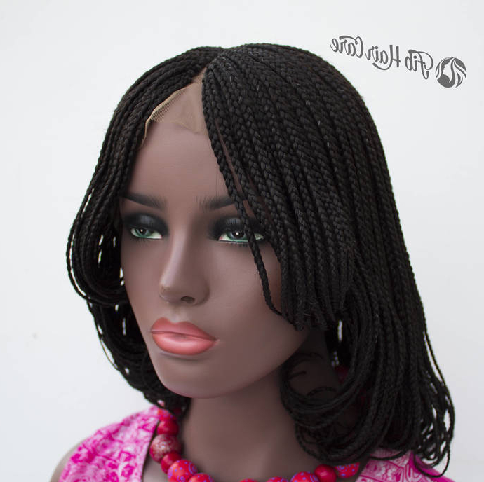 Braided Wig Amanda Bob Lace Front, Full Lace Wig Options Available, Layered Box Braid Bob Style, Custom Braids Wig, Braided Wigs For Women With Most Recent Layered Bob Braid Hairstyles (View 19 of 25)