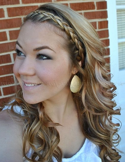 Braided+Hairstyles,+Plaits,+Braided+Hair+ +Wavy+Hairstyle+ Inside Most Up To Date Braided Headband Hairstyles For Curly Hair (View 15 of 25)