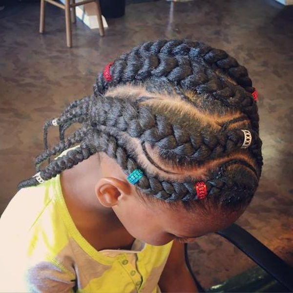 Braids For Kids: Black Girls Braided Hairstyle Ideas In Within Most Recent Skinny Curvy Cornrow Braided Hairstyles (View 16 of 25)