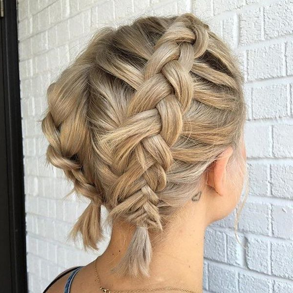 Braids For Short Hair: 40 Best Braided Hairstyles For Short Throughout 2018 Long And Short Bob Braid Hairstyles (View 16 of 25)