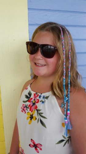 Braids, Hair Wraps & Henna Tattoos – Beach Fun For Everyone Inside Current Braided Hairstyles With Beads And Wraps (View 7 of 25)