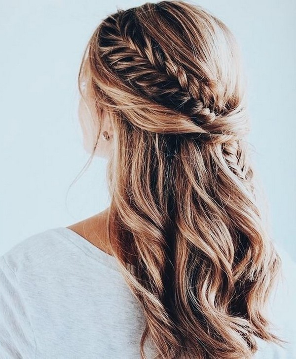 Braids Half Up Half Down Wedding Hairstyle – Oh Best Day Ever Intended For Most Popular Half Up, Half Down Braided Hairstyles (View 17 of 25)