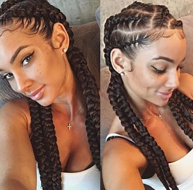 Braids, Natural Curly Hair, Shrinkage, Team Natural, Curls Pertaining To Most Popular Naturally Curly Braided Hairstyles (View 6 of 25)