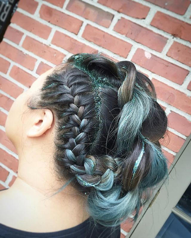 Braids With Bangs   ? Hair Beauty In 2019   Mohawk For Current Braided Mermaid Mohawk Hairstyles (View 8 of 25)