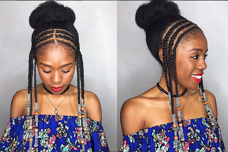 Braids With Beads Inspiration – Essence Pertaining To Newest Beaded Bangs Braided Hairstyles (View 19 of 25)