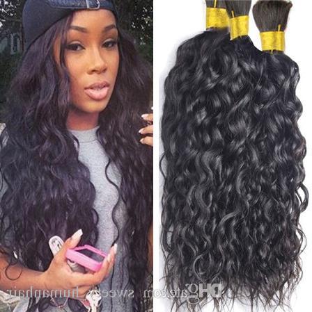 Brazilian Human Hair Braids Bulk Natural Water Wave No Weft Wet And Wavy Micro Mini Braiding Bulk Hair Inside Most Current Wet And Wavy Micro Braid Hairstyles (View 21 of 25)