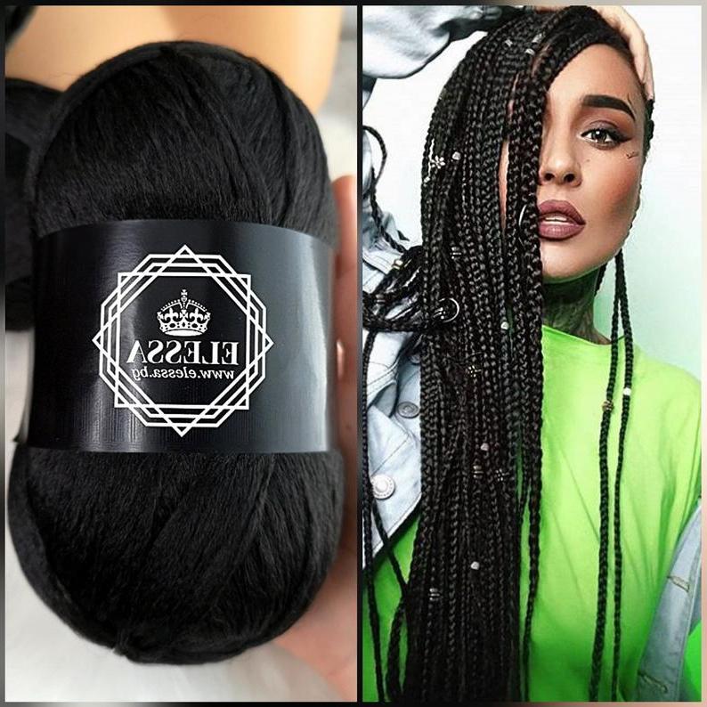 Brazilian Yarn For Braids High Quality Acrylic Wool For Hair Jumbo Braids, Senegalese Twist / Wraps Natural / Knitting Hair Black Braids Inside Most Popular Jumbo Twists Yarn Braid Hairstyles (View 17 of 25)