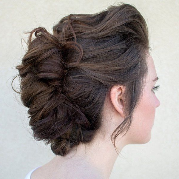 Brown Braided Updo Hairstyle Pictures, Photos, And Images For Best And Newest Brown Woven Updo Braid Hairstyles (View 7 of 25)