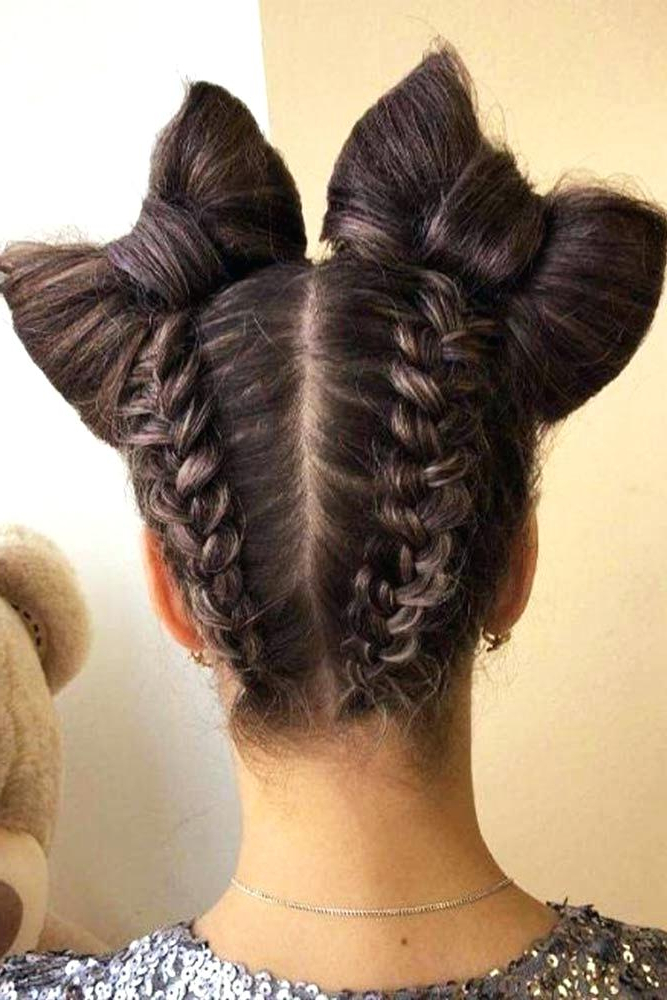 Bun With Braids Hair Styles – Cyclotourisme Indre Ffct For Newest Braids And Buns Hairstyles (View 18 of 25)