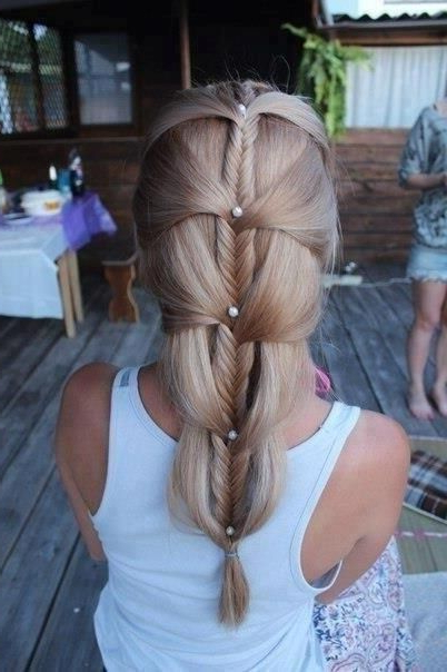Cascading French Fishtail Braid Down Very Cute And Unique throughout Most Popular Nostalgic Knotted Mermaid Braid Hairstyles