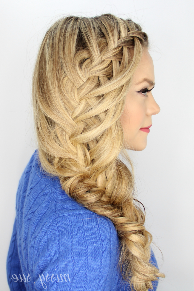 Cascading Waterfall Fishtail Braid with Newest Waterfall Mermaid Braid Hairstyles