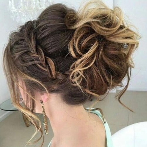 Channel Your Inner Fairy With These 50 Crown Braid Styles pertaining to Best and Newest Messy Crown Braid Updo Hairstyles