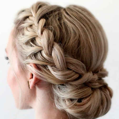 Channel Your Inner Fairy With These 50 Crown Braid Styles Throughout Most Current Messy Crown Braid Updo Hairstyles (View 6 of 25)