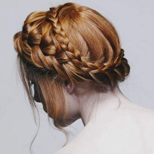 Channel Your Inner Fairy With These 50 Crown Braid Styles With Most Popular Double Crown Updo Braided Hairstyles (View 9 of 25)